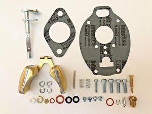 John Deere 420 430 Carburetor Repair Kit w/ Throttle Shaft & Float