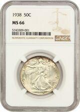 1938 50c NGC MS66 - Walking Liberty Half Dollar