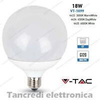 Lampadina led V-TAC 18W = 115W E27 VT-1899 G120 globo lampada lampadine SMD bulb