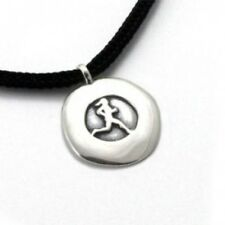Tarma Designs Running Gal Disc Pendant Sterling Silver Necklace Women's Sports