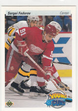 1990/91 Upper Deck Young Guns 525 Sergei Fedorov Detroit Red Wings Rookie RC