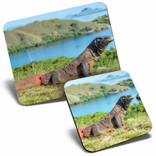 Mouse Mat & Coaster Set - Komodo Dragon Ancient Animal  #21768