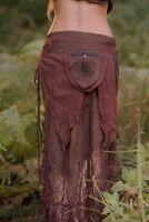 Primitive Pocket Belt Skirt - Bohemian Festival Gypsy Pixie Goa Tattered Layer