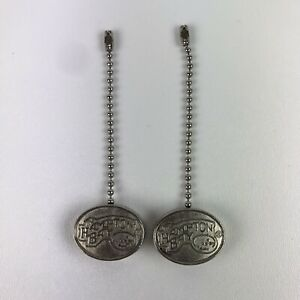 2 REPLACEMENT Hampton Bay Pull Chain Fob for Ceiling Fan & Light, Silver Finish