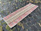 Patchwork, Turkish rug, Vintage rug, Handmade rug, Runner, Wool | 1,2 x 4,0 ft
