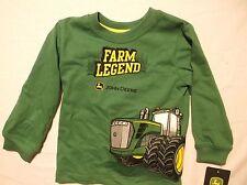 Toddler John Deere size 18 month Layered look long sleeve Cotton shirt farm lege