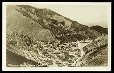 Antique Real Photo Postcard Rppc Old Wallace Idaho Mining Town Center