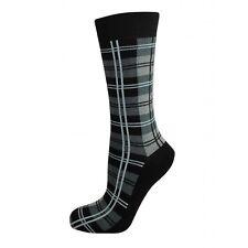 Grigio da uomo scozzese Calzini alla caviglia corto taglia CALZE 6-11 Hogmanay