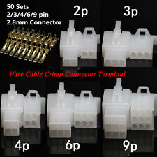 50 pcs 2.8-2/3/4/6/9 Way Internal Wire Cable Crimp Fixed Hook Car Connector