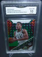 2020 Mosaic Giannis Antetokounmpo Will to Win Green Prizm GMA Gem Mint 10 MVP