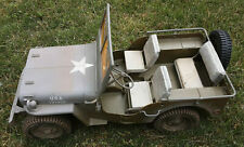 """2001 Hasbro G.I. Joe 1941 Jeep Willys w/ Spare Tire 21"""" 1/6th Scale For 12"""" Joes"""
