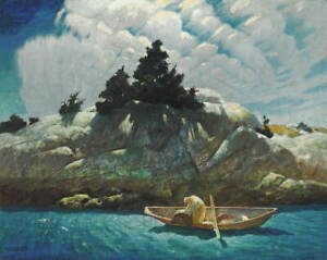 Newell Convers Wyeth Black Spruce Ledge Poster Reproduction Giclee Canvas Print