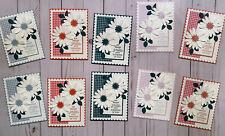 10 Handmade Gingham Daisy Smile Thinking of You greeting cards envelopes