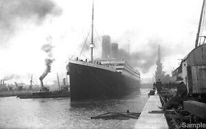 Titanic White Star Line Ship Vintage Ocean Liner Historical Photo Print Picture