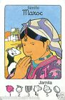 COSTUME FEMME WOMEN MAROC Morocco PLAYING CARD CARTE A JOUER