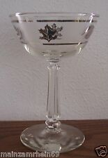 "LIBBEY ROCK SHARPE SILVER LEAF 4 CHAMPAGNE/SHERBET GOBLETS 5 3/4"" TALL Rare HTF"