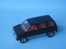 Matchbox Dodge Caravan Silver Body Black Stripes UB England Base 70mm