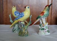 Oiseaux en faïence ancienne - à identifier - Meissen ?