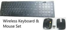 Black Wireless Keyboard+Number Pad & Mouse for Toshiba 46TL938 3D LED Smart TV