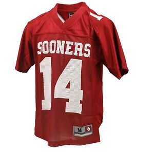 Oklahoma Sooners Official NCAA Kids Youth Size Football Jersey New No Tags