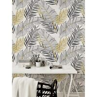 Removable wallpaper Tropical gold leaves Palm leaf Modern and elegant Pattern