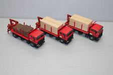 Kibri 3 Stück Lkw DAF mit Baustoffen beladen Spur H0 #M485