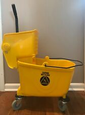 Dryser Commercial Mop Bucket with Side Press Wringer - 26 Quart - Yellow