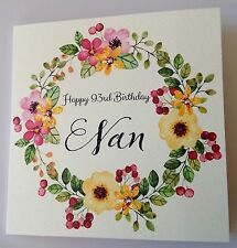 PERSONALISED BIRTHDAY CARD MUM NAN AUNT 30th 40th 50th 60th 70th 80th 90th 100th