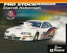 1998 Darrell Alderman Mopar Dodge Avenger Pro Stock NHRA postcard