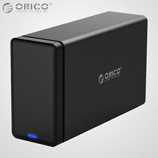 ORICO 2Bay 3.5 Inch SATA USB 3.0 Hard Drive HDD Enclosure Raid 0/1/Combine/Clear