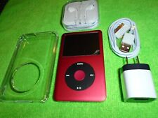 Apple iPod classic 7th Gen Red and Chrome (160 GB) + Extras Excellent Condition