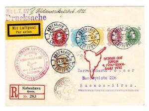 Graf ZEPPELIN DENMARK DISPATCH-1932-4th SOUTH AMERICA FLIGHT