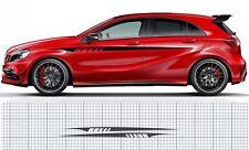 Mercedes-Benz A-Class W176 Upper Side stripe contour Decal Set (A45 AMG Edition)