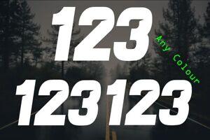 X3 Custom Race Numbers Only Stickers Motocross Kart Decals MX Dirt Bike Sticker