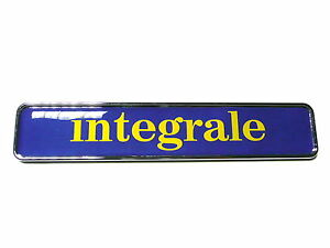 sigla scritta stemma INTEGRALE per LANCIA DELTA HF badge emblem logo escudo BLU