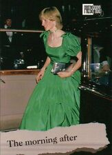 Princess Diana in Green Dress, Purse - Royal Family Trading Card, Not a Postcard