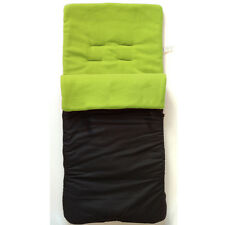 New Black Lime Green fleeced cosytoes footmuff liner for pushchair buggy HAUCK+