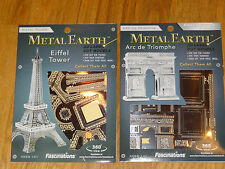 Paris Landmarks set of 2 Metal Earth 3D Laser Cut Models Eiffel Arc de Triomphe