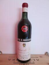 TENUTA S. MARGHERITA Rubino Del Piave 1957 ALCOOL VINO BOTTIGLIA VINTAGE RARO