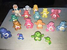 "🙂 Lot Of 17 Vintage  3""  & Mini PVC Care Bears   80s The Original First 10 Plus"