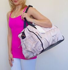 NWT Lululemon Weekend Warrior Duffel Bag Prisma Embossed Natural Blush