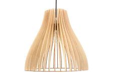 Pendelleuchte Holz Nubes Holzlampe Natur E27 Deckenleuchte Deckenlampe LED