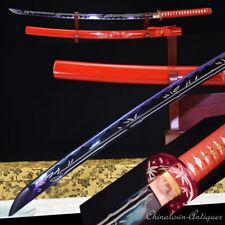 Japanese Samurai Sword Nihontou Katana Carbon Steel Blade Hand Polishing #1348