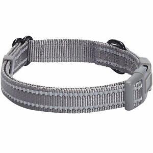 Blueberry Pet Collar 3M Reflective Classic Dog Collar Grey Medium