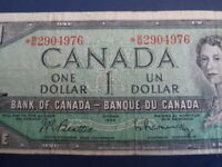 1954 Canada 1 Dollar Replacement Bank Note-*BM2904976-  21-33
