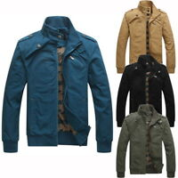 Fashion Men Autumn Warm Jackets Coat Male Stand Collar Casual Quilted Jacket