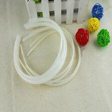 12pcs 10MM White Fashion Plain Lady Plastic Hair Band Headband No Teeth US STOCK