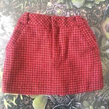 Jigsaw Junior Tweed Style girls skirt Age 5 Berry Pockets Smart Cute
