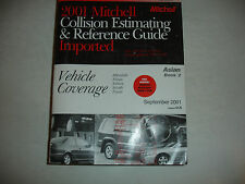 2001 Mitchell Asian 2 Subaru Toyota Collision Parts Time Estimating Manual Guide