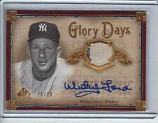 """2005 SP Legendary Cuts """"Glory Days-  #Whitey Ford""""  Autographed   Pr: 10/10"""
